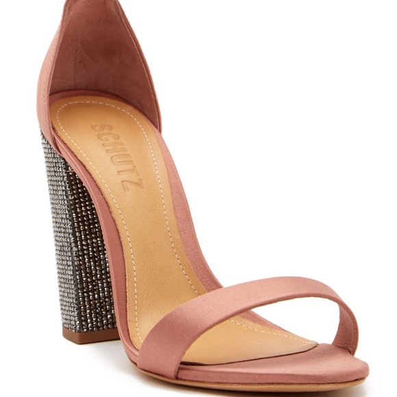 0fc6b7f60b1 Schutz Hara Crystal Block Heel Ankle Strap Sandal NWT